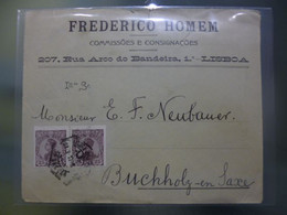 D.MANUEL II - FREDERICO HOMEM COMISSOES E CONSIGNAÇOES - LISBOA - Covers & Documents