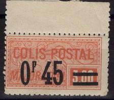 COLIS POSTAUX N° 37a Neuf* Avec Charnière Légère. Bas Prix, à Saisir. - Neufs