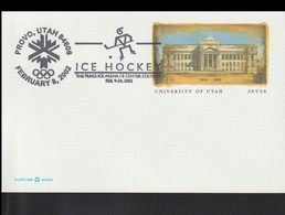 USA Postal Stationary 2002 Salt Lake Olympic Games - Ice Hockey Provo  (G119-82) - Winter 2002: Salt Lake City