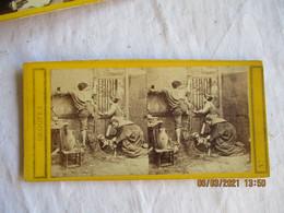 Photo Stereoscopique Scene De Vie Guerre 1870 Famille  Ils Arrivent - Stereoscopio