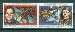 REPUBLIQUE DES  COMORES - P.A. N° 147** MNH Et N° 148** MNH  SCAN DU VERSO - Histoire De L'aviation. Sujets Divers. - Comoros