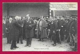 CPA Militaria - Champagné - Camp D'Auvours - Remise Du Drapeau Aux Troupes Belges Le 17 Octobre 1915 - Oorlog 1914-18