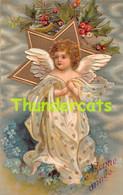 CPA EN RELIEF GAUFREE ANGE ANGES EMBOSSED CARD ANGEL ANGELS   ELLEN CLAPSADDLE ILLUSTRATEUR - Anges