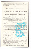 DP Veearts - Jozef Van Der Waeren ° St-Joris-Winge Tielt-Winge 1879 † Melania Van De Gaer / Fanfare Weergalm Der Winghe - Devotion Images
