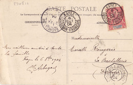 23081# SENEGAMBIE ET NIGER CARTE POSTALE MISSION A KITA Obl KAYES SOUDAN FRANCAIS 1904 LA BACHELLERIE DORDOGNE - Covers & Documents
