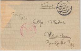 DR - FpNr. M17684 Linienschiff Schleswig-Holstein Feldpostbrief N. München 1940 - Covers & Documents