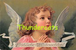 CPA EN RELIEF GAUFREE ANGE ANGES EMBOSSED CARD ANGEL ANGELS - Anges
