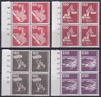 BRD, 1978 Nr. 990-994 ** Komplette Ausgabe Industrie Und Technik (II) 4 Viererblöcke Mit Bogenzähler - Neufs