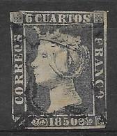 1850 - 6 Cuartos , Gestempeld - Oblitérés