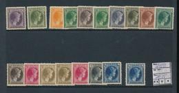 LUXEMBOURG  PRIFIX 164/181 MNH - 1926-39 Charlotte Rechtsprofil