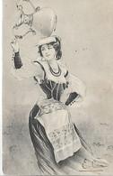 Thèmes, Illustrateurs Signès, BOTTARO, Femme Et Cruche, Scan Recto-Verso - Bottaro