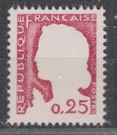 France Marianne Decaris Superbe Variété  N° 1263  Sans Le Gris Neuf **  Sans Aucun Défaut - Superbe - Variétés: 1960-69 Neufs