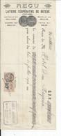 CHEQUE  ENVOYEE A LA MERE SUPERIEURE DE L'HOTEL DIEU DE BAYEUX Laiterie Cooperative 1926 - 1900 – 1949