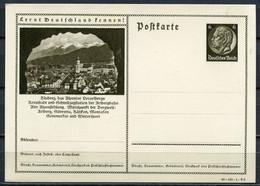 """German Empires 1940 GS Hindenburg Mi.Nr.P236/40-149-1-B6 """"Lernt Deutschland Kennen!-Bludenz,Vorarlgerg """"1 GS - Enteros Postales"""