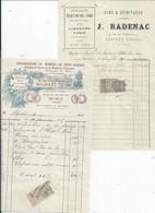 FACTURE   ENVOYEE A LA MERE SUPERIEURE DE L'HOTEL DIEU DE BAYEUX  Lot De 2 - 1900 – 1949