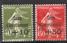 TIMBRE CAISSE D'AMMORTISSEMENT.  N° 275 Et 277 - Used Stamps
