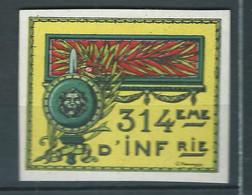 Vignette Régimentaire DELANDRE France 1914 1918 WWI WW1 FRANCE Cinderella Poster Stamp - Vignettes Militaires