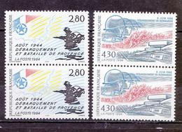 N° 3387 Et 3895 Débarquement Normandie Et Débarquement Provence En Paire De 2 Timbres Neuf - Nuevos