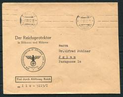 """1942 Dienstbrief 1942 Prag """"Der REICHSPROTEKTOR Bohmen U. Mahren"""" Official Cover - Iglau. - Occupation 1938-45"""
