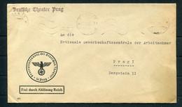 1942 Bohemia Moravia Deutsche Theater In Prag Official Cover - Occupazione 1938 – 45