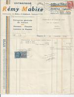 FACTURE   ENVOYEE A LA MERE SUPERIEURE DE L'HOTEL DIEU DE BAYEUX  Mabire Bayeux 1953 - 1950 - ...