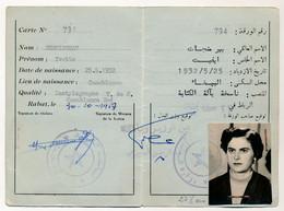 MAROC - Empire Chérifien - Carte D'identité - établie à Rabat En 1957 - Ohne Zuordnung