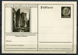 """German Empires1940 Kopfbild Hindenburg GS Mi.Nr.P236/40-149-1-B2 """"Lernt Deutschland Kennen!-Wekelsdorf,Sandsteinfe"""" 1 GS - Enteros Postales"""