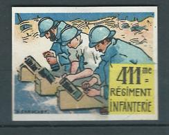 Vignette Régimentaire DELANDRE France 1914 1918 WWI WW1 FRANCE Cinderella Poster Stamp Guerre - Vignettes Militaires