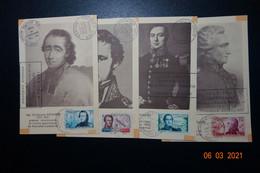 Série Cartes Maxi Fete Du Centenaire  1853/1953 - Tarjetas – Máxima