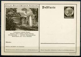 """German Empires1935 Kopfbild Hindenburg GS Mi.Nr.P236/35-55-(2)-B6""""Lernt Deutschland Kennen!-Landeck,Schlesien""""1 GS - Enteros Postales"""