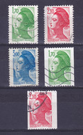 TIMBRE FRANCE N° 2318 à 2322 OBLITERE - 1982-90 Liberté De Gandon