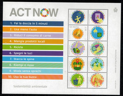 San Marino 2020 ACT NOW - Sostenibilità Ambientale 1v  Complete Set ** MNH - Unused Stamps