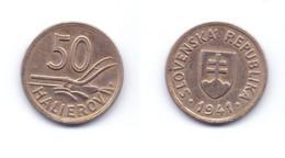 Slovakia 50 Haleru 1941 WWII Issue - Slovakia