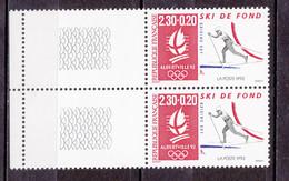 N° 2678a  Albertville 92 J.O D'Hiver: Ski De Fond  Une Paire De 2 Timbres Neuf Sans Charnière - Nuevos