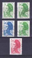 TIMBRE FRANCE N° 2423A à 2427 OBLITERE - 1982-90 Liberté De Gandon