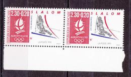 N° 2676a  Albertville 92 J.O D'Hiver: Slalom Une Paire De 2Timbres Neuf Sans Charnière - Nuevos