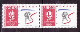 N° 2677a  Albertville 92 J.O D'Hiver: Hockey Une Paire De 2Timbres Neuf Sans Charnière - Nuevos