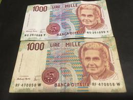 LIRE 1000......REPUBBLICA ITALIANA.......BANCA D' ITALIA..... - 1000 Liras
