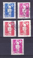 TIMBRE FRANCE N° 2716.2717/2719.2720/2770 OBLITERE - 1989-96 Marianne Du Bicentenaire
