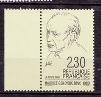N° 2671 Cinquantenaire De La Naissance De Maurice Genevois:  Beau Timbres Neuf Sans Charnière - Nuevos