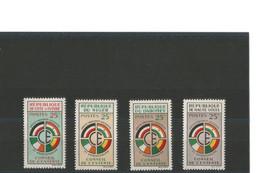 Conseil De L'Entente 1er Anniversaire - Série 4 Timbres Neufs** De 1960 - Côte D'Ivoire, Niger, Dahomey, Haute-Volta - Autres - Afrique