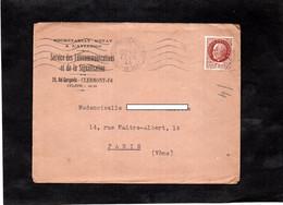 LAC 1944 - Entête Secrétariat D'Etat à L'Aviation - Sercice Des Télécommunications Et Signalisation à CLERMONT FERRAND - Guerra Del 1939-45