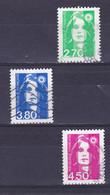 TIMBRE FRANCE N° 3005 à 3007 OBLITERE - 1989-96 Marianne Du Bicentenaire