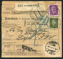 1930 Germany Paketkarte Parcelcard Leipzig - Zagreb Via Budapest - Lettres & Documents