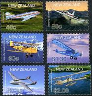 Zélande New Zealand 2001 Douglas DC-3 (DC 3), DH Tiger Moth, DH Vampire,  (YT1836 , Mi 1908, Gibbons 2408) - Airplanes