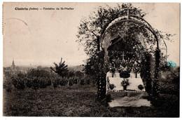 CPA 36 - CHABRIS (Indre) - Fontaine St-Phalier - Otros Municipios