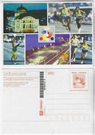 Brazil 1998 Postal Stationery Amazonas Theater Athletics Running Relay Marathon Unused - Enteros Postales