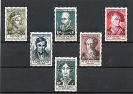 TIMBRES CELEBRITES DU XII Au XIX SIECLES.  N° 1108 à 1113 - Used Stamps