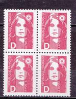 N° 2629 Type Marianne Du Bicentenaire Bloc De 4 Timbres Neuf - Nuevos