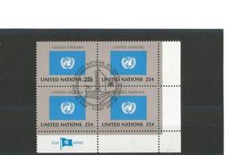UNITED NATIONS New York - Bloc De 4 Coin De Feuille Du N°562 - Oblitération FDC Du 22 Sept 1989 - Gebraucht